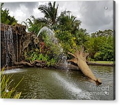 Elephant Waterfall Acrylic Print