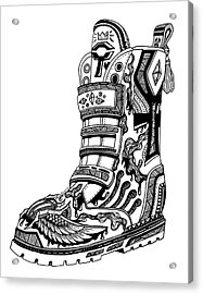Elevated Soles No.2 Acrylic Print by Kenal Louis