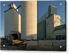 Elevators In Moscow Idaho Acrylic Print by Jerry McCollum