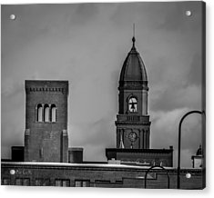 Eleven Twenty Says The Clock In The Tower Acrylic Print by Bob Orsillo