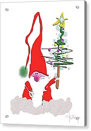 Acrylic Print featuring the mixed media Elf  by Larry Talley