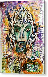 Acrylic Print featuring the mixed media Elf by Mimulux patricia no No
