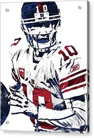 Eli Manning New York Giants Pixel Art 5 Acrylic Print by Joe Hamilton