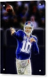 Eli Manning Acrylic Print by Paul Ward