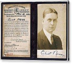 Eliot Ness - Untouchable Chicago Prohibition Agent Acrylic Print