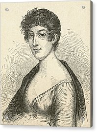 Elisabeth Charlotte Pauline De Meulan Acrylic Print