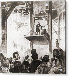Elisha Graves Otis 1811-1861 Acrylic Print by Everett