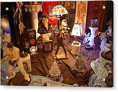 Elivis Presley Store Window Beale Street Memphis Tennessee Acrylic Print by Wayne Higgs