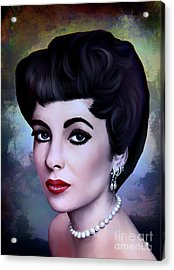 Acrylic Print featuring the painting Elizabeth  by Andrzej Szczerski