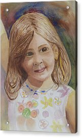 Acrylic Print featuring the painting Elizabeth by Donna Walsh