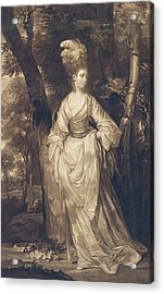 Elizabeth Duchess Of Hamilton Brandon And Argyll Acrylic Print by John Finlayson