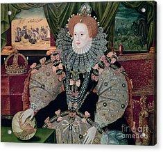 Elizabeth I Armada Portrait Acrylic Print by George Gower