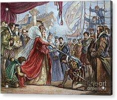 Elizabeth I/francis Drake Acrylic Print by Granger