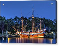 Elizabeth II At Dock Acrylic Print by Greg Reed