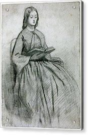 Elizabeth Siddall In A Chair Acrylic Print by Gabriel Rossetti