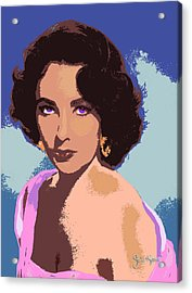 Acrylic Print featuring the painting Elizabeth Taylor by John Keaton
