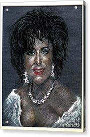 Elizabeth Taylor Acrylic Print by Tony Calleja