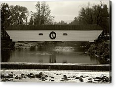 Elizabethton Covered Bridge Acrylic Print by Jeff Severson