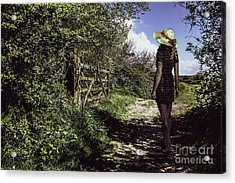 Eliza's Walk In The Countryside. Acrylic Print