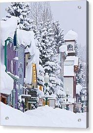 Elk Avenue Snow Acrylic Print by Dusty Demerson
