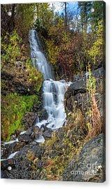 Elk Creek Waterfall Waterscape Art By Kaylyn Franks Acrylic Print