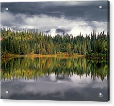 Elk Lake Acrylic Print by Leland D Howard