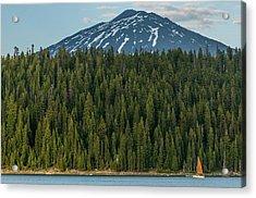 Elk Lake Sailing  Acrylic Print