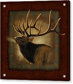 Elk Lodge Acrylic Print by JQ Licensing