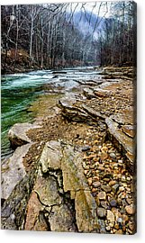 Acrylic Print featuring the photograph Elk River In The Rain by Thomas R Fletcher