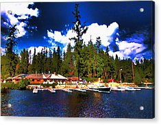 Elkins Resort Acrylic Print by David Patterson