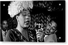 Ella Fitzgerald Dizzy Gillespie And Ray Brown William Gottlieb Photo Nyc 1947-2015 Acrylic Print