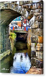 Ellicott City Bridge Arch Acrylic Print by Stephen Younts