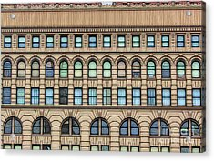 Acrylic Print featuring the photograph Ellicott Square Building Buffalo Ny Ink Sketch Effect by Rose Santuci-Sofranko