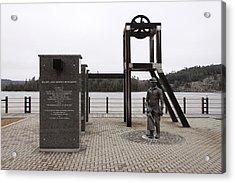 Elliot Lake Mining Monument Acrylic Print by Richard Mitchell