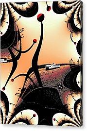 Elliott Bay Ferry Fractal Acrylic Print