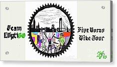 elliptiGO meets the 5 boros bike tour Acrylic Print