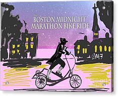 elliptigo meets the Midnight Ride Acrylic Print