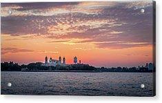 Ellis Island At Sunset Acrylic Print