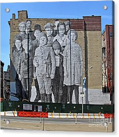Ellis Island Immigrant Children Mural Tribeca 1 Acrylic Print