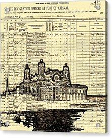 Ellis Island Acrylic Print by Jeff DOttavio