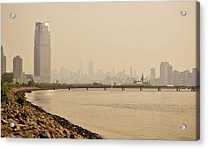 Ellis Island Pier Acrylic Print