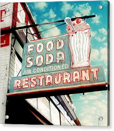 Elliston Place Soda Shoppe - Square Crop Acrylic Print