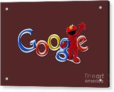 Elmo Google T-shirt Acrylic Print