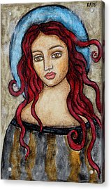 Eloise Acrylic Print by Rain Ririn