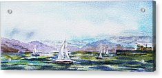 Elongated Seascape Painting Acrylic Print