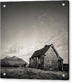 Elphin Bothy Acrylic Print by Dave Bowman