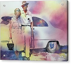 Elsie And Barney Shields Acrylic Print