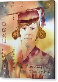 Elsie Circa 1915 Acrylic Print