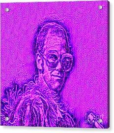Elton In Purple Acrylic Print