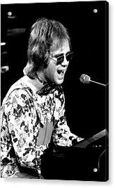 Elton John 1970 #3 Acrylic Print by Chris Walter